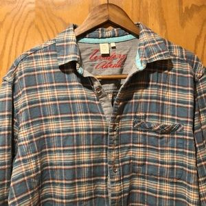 Soft vintage Territory Ahead button up shirt